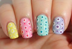Pastel Dot Nail Design for Spring and Summer