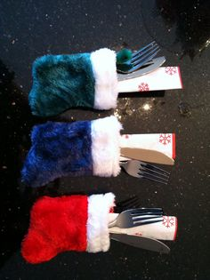 Mini stockings for the Christmas buffet