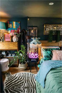 Home Bedroom, Bedroom Decor, Casa Pop, Funky Home Decor, Aesthetic Room Decor, Dream Decor, Dream Rooms, My New Room, Home Decor Inspiration