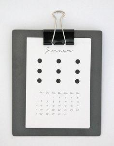"""DIN A6 - Kalender 2014 """"Dots"""" - ein Designerstück von mi-nu bei DaWanda"""
