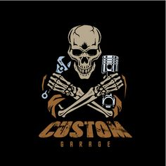Discover thousands of Premium vectors availables in AI and EPS formats. Download whatever, cancel whenever. Custom Garages, Aragon, Automotive Design, Sticker Design, Custom Logos, Skulls, Tatting, Vector Free, Logo Design