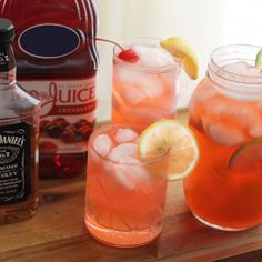Mixed Drinks With Jack Daniel's and Cranberry Juice