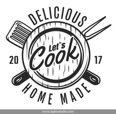 Cooking Quotes, Food Quotes, Food Logo Design, Logo Food, Baking Logo, Kitchen Logo, Monochrome Print, Design Your Own Poster, Interior Design Elements