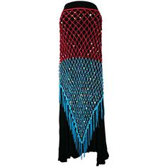 """Fuchsia Turquoise Exotic Sequin Crochet Triangle Shawl Wrap Belly Dance Scarf. Feels like Silk. Length: Approx. 39"""" / 99cm. Width: Approx. 25"""" / 63.5cm. 100% Brand New In Perfect Condition. Manufactured and sold by Jon's imports and shipped promptly packaged well to protect the product."""