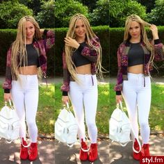 Blonde White Girl, White Girls, Shirin David Style, Youtuber, Box Braids Hairstyles, Looking For Women, Her Style, Clothes, Outfits