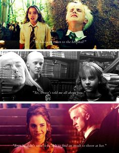 Dramione forever. J.k. Rowling had the perfect Romeo and Juliet story right in her hands