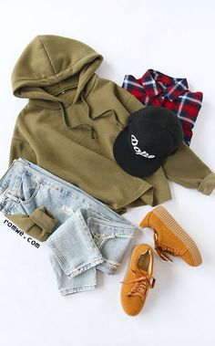 Army Green Hooded Raw Hem Sweatshirt Size Available : S,M,L,XL Fabric : Fabric has some stretch Style : Basic Season : Winter Type : Pullovers Pattern Type : Plain Color : Green Neckline : Hoodie Sleeve Length : Long Sleeve Material : Polyester