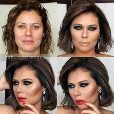 Mágica da Maquiagem..... Amo!
