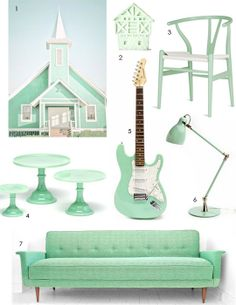 Get the Look: Seafoam Green - AMAZING CHAIR
