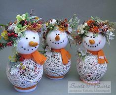 News - Christmas idea Handmade Ornaments, Diy Christmas Ornaments, Homemade Christmas, Diy Christmas Gifts, Simple Christmas, Christmas Holidays, Christmas Wreaths, Christmas Tree, Snowman Crafts