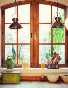 Love this kitchen window and lighting