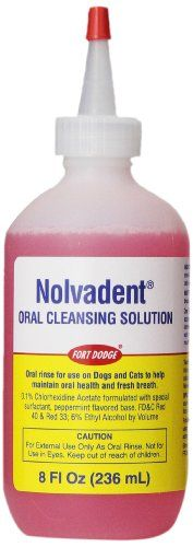 Fort Dodge Animal Nolvadent Oral Cleansing Solution Bottle 8Ounce ** Learn more by visiting the image link. Note: It's an affiliate link to Amazon.