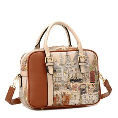 Affordable Retro Style Womens Graffiti Brown Shoulder Bags Online Brown  Crossbody Bag 2e856dcabaf07