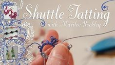Shuttle Tatting: Make Lacy Jewelry, Embellishments For Quilts More - If youve been longing to learn shuttle tatting, or looking for a new craft thats fun, inexpensive and portable, this is the class for you. - via Craftsy Lace Patterns, Crochet Patterns, Dress Patterns, Crochet Classes, Tatting Lace, Craft Tutorials, Video Tutorials, Craft Projects, Project Ideas