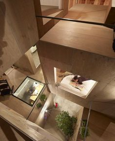 Multi-layered views within this Tokyo house by Suppose Design Office