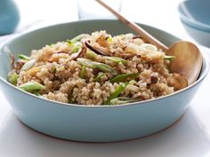 Quinoa With Shiitakes and Snow Peas recipe from Food Network Kitchen via Food Network