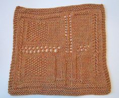 """Free pattern. This is the one color version of the sixth square in a series of 12"""" squares that we are doing in the Prairie Afghan KAL located in the Monthly Adventures group."""