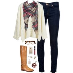 chilly by classically-preppy on Polyvore featuring J Brand, Tory Burch, J.Crew, NARS Cosmetics and Essie
