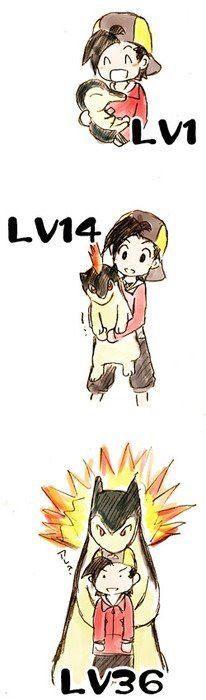 Pokemon - Cyndaquil, Quilava, Typhlosion <3