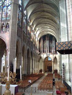 St denis nave - Basílica de Saint-Denis - Wikipedia, la enciclopedia libre