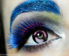 Neon Cyborg Eye Look @sugarpill