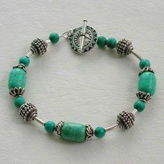 Handmade Gemstone Jewelry Designs | Image of Handmade Gemstone Bead Jewelry - Turquoise and Bali Bead ...