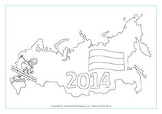 Sochi Winter Olympics Colouring Page 2