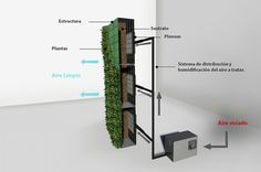 Jardín Vertical Descontaminante Canevaflor® / Hidrosym