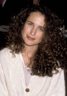 50 Wild, Free, and Fantastic Curly-Hair Icons Andie MacDowell Andie Macdowell, Brunette Beauty, Hair Beauty, Curly Hair Styles, Natural Hair Styles, Beautiful People, Beautiful Women, Hair Icon, Foto Art