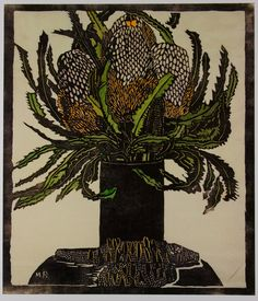 Margaret Preston - List All Works Australian Painting, Australian Artists, Botanical Art, Botanical Illustration, Australian Wildflowers, Australian Flowers, Margaret Preston, Linocut Prints, Japanese Art