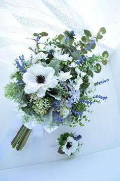 Bridesmaids And Groomsmen, Wedding Bridesmaids, Wedding Bouquets, Wedding Flowers, Anemone Bouquet, Silk Flower Bouquets, Silk Flowers, Wedding Flower Arrangements, Floral Arrangements