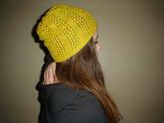Ravelry: Lace Slouch Hat pattern by Linda Permann