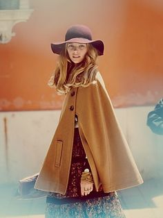 boho cape and floppy hat