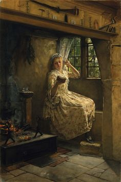 """A Cosey Corner"" by Francis David Millet, 1884"