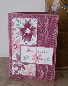 Stampin' Up! Demonstrator stampwithpeg – Blooms & Bliss Suite, Best Wishes. Blooms & Bliss is such a gorgeous Suite, I can't understand why I haven't used it more. I really thou…