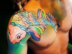 Something Fishy? Colourful Carp - Bodypaint in Ibiza