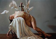 """The Hand of the Virgin"" Oil On Canvas 100 x 140 cm year 2015 -  Roberto Ferri"