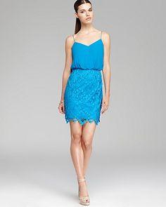 Aqua Sleeveless Dress - Lace Skirt | Bloomingdale's