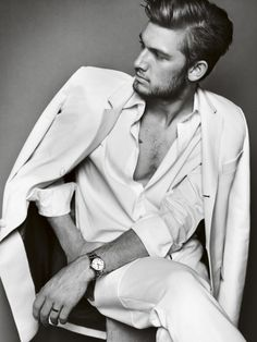 All white for the summer would be cool: alex pettyfer