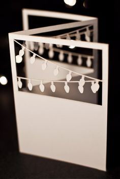 Plane Paper Card Tri-Fold Lights