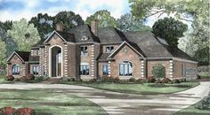 European Style House Plans - 6388 Square Foot Home, 2 Story, 4 Bedroom and 4 3 Bath, 4 Garage Stalls by Monster House Plans - Plan 12-524
