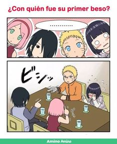 Who was your first kiss? Naruto's first is definitely with Sasuke😂. Sakura is when she did CPU with Naruto, and Hinata. of course they kiss in Movie 7 The Last Anime Naruto, Naruto And Sasuke Kiss, Naruto Fan Art, Naruto Sasuke Sakura, Naruto Cute, Otaku Anime, Manga Vs Anime, Yandere Manga, Naruto Uzumaki Shippuden