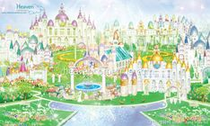 Nova Jerusalem, Beautiful World, Beautiful Places, Cartoon Garden, Science Words, Kingdom Of Heaven, New Earth, Jesus Pictures, Catholic Saints