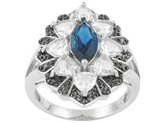 Barehipani Topaz And White Topaz 3.51ctw With Blue Diamond Accent Sterling Silver Ring Erv $122.00 - COH213 - JTV.com®