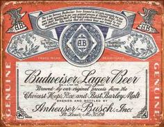 Poster Placa Vintage Budweiser 02