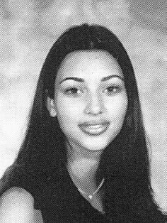 "kim kardashian high school 1997==""People say, 'She's had her lips and her nose done.' Look at this photo. Tiny nose, huge lips. My lips look bigger here than they do now."""