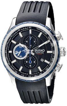 JIUSKO Men's 60LSBL02 Speedmaster Series Analog Display Quartz Black Watch