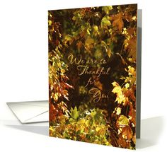 Thanksgiving Leaves We Are So Thankful for You card