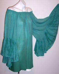 Indah Dress L New Blue Mirage Kamani Boho Chic Mini or Tunic Top NWT MSRP $134 #Indah #Blouson #Casual