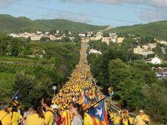Via catalana a l'Ordal, Catalan way. Catalonia